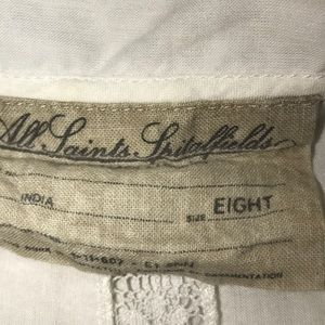 AllSaints cotton n lace top